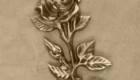 Цветок из бронзы на памятник